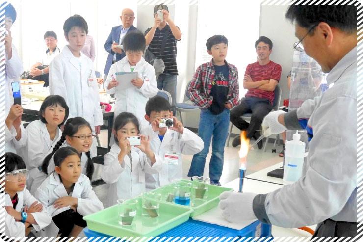 科学実験の模様