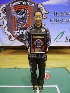 下田選手が最高殊勲選手賞を受賞
